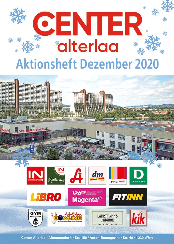 Aktionsheft Center Alterlaa Dezember 2020